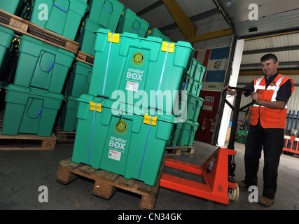 ShelterBox , Shelter Box, disaster relief charity ShelterBox - Stock Photo