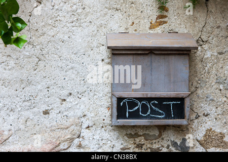 Wooden mail box - Stock Photo