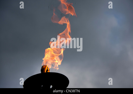 Flaming Torch - Stock Photo