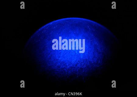 Blue fibre optic light pattern - Stock Photo
