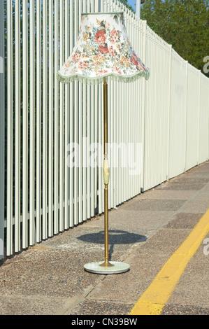 Lamp on a train platform - Stock Photo