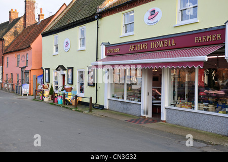 Burnham Market,Renowned Restaurant,Pub,B & B,Hoste Arms,Shops,Village Green,Georgian Houses,Close To Sea,North Norwich,England - Stock Photo