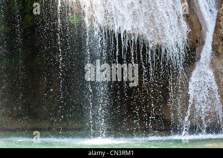 Myanmar (Burma), Mandalay division, Pyin U Lwin, Anisakan waterfalls - Stock Photo