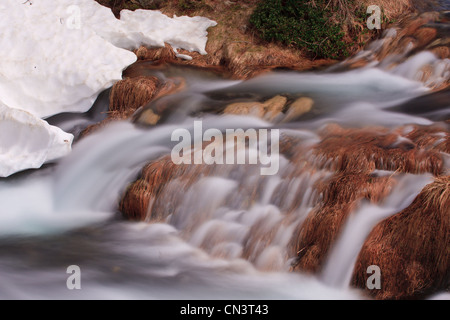 France, Alpes Maritimes, Parc National du Mercantour (Mercantour National Park), Haute Tinee, torrent of the lakes - Stock Photo