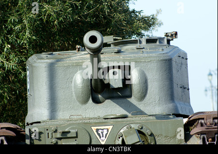 CHURCHILL MK VII CROCODILE FLAME THROWER GUN TURRET. - Stock Photo