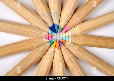 Colored pencils macro, can be used as a background - Stock Photo