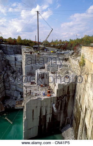 Rock of Ages granite quarry in Barry, Vermont, USA - Stock Photo