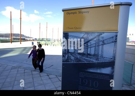 TITANIC, Titanic Signature Building, VISITOR CENTRE, TITANIC EXPERINCE MUSEUM GALLERIES, Belfast, Northern Ireland, - Stock Photo