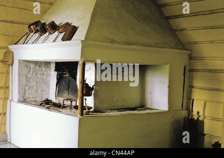 19th century kitchen in the Anjala Manor House, now a museum in Anjalankoski, Finland - Stock Photo