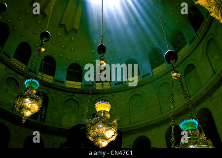 Ethereal view of the dome of the Church of the Holy Sepulchre Jerusalem - Stock Photo
