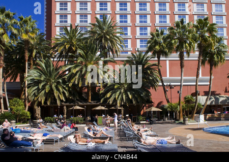 United Statess, Nevada, Las Vegas, Treasure Island casino resort hotel - Stock Photo