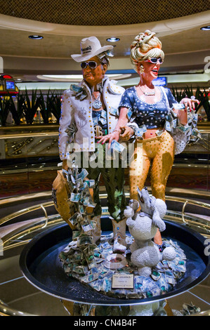 United Statess, Nevada, Las Vegas, room players of Harras casino hotel - Stock Photo