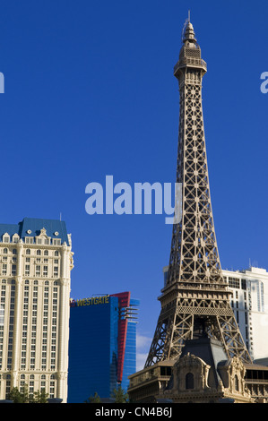 United Statess, Nevada, Las Vegas, Paris casino hotel on the Strip boulevard - Stock Photo