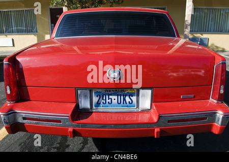 United Statess, Nevada, Las Vegas, registration plate at bottom of Buick care - Stock Photo