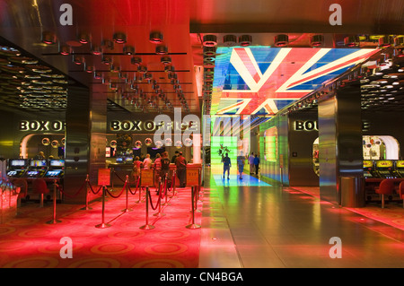 United Statess, Nevada, Las Vegas, Mirage casino , lobby réception of the hotel, Beatles show entrance - Stock Photo
