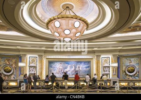United Statess, Nevada, Las Vegas, Ceasar Palace hotel, the main lobby réception - Stock Photo