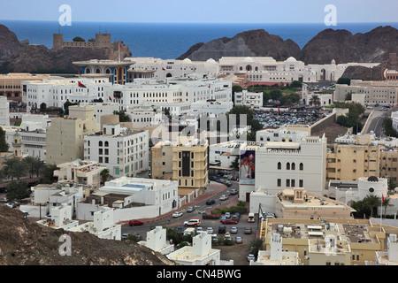 Blick auf die Altstadt von Muscat - Stock Photo