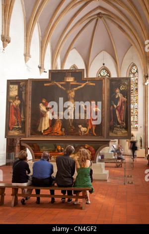 France, Haut Rhin, Colmar, Unterlinden Museum, Isenheim altarpiece - Stock Photo