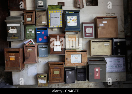 France, Bouches du Rhone, Marseille, mailboxes - Stock Photo
