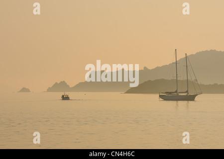 France, Var, iles d'Hyeres, Parc National de Port Cros (National Park of Port Cros), ile de Porquerolles - Stock Photo