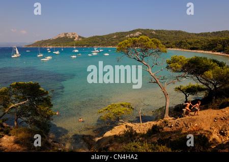 France, Var, iles d'Hyeres, Parc National de Port Cros (National Park of Port Cros), ile de Porquerolles, Notre - Stock Photo