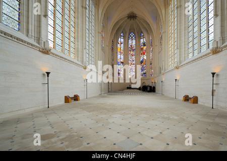 France, Val de Marne, Vincennes, Chateau de Vincennes, the Sainte Chapelle (the Holy Chapel) - Stock Photo