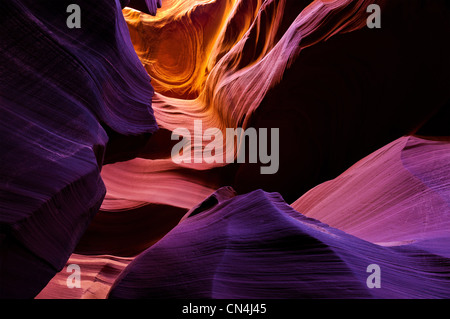 Lower Antelope Canyon, near Page, Arizona USA - Stock Photo
