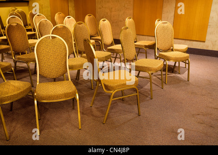 Chairs in hotel party room - Stock Photo
