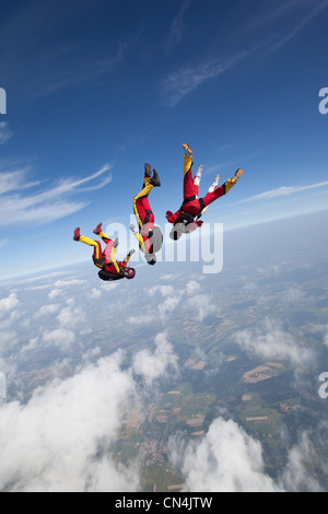 Freefly skydivers - Stock Photo