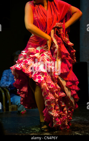 Spain, Andalusia, Seville, Museo del Flamenco (Museum of Flamenco), Flamenco show - Stock Photo
