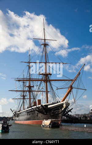 HMS Warrior, Portsmouth Dockyard, UK - Stock Photo
