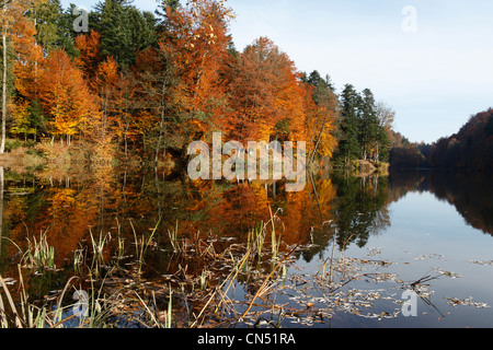 Croatia, Varazdin county, Trakoscan, park, lake and historic castle of the powerful and wealthy family Draskovic, - Stock Photo