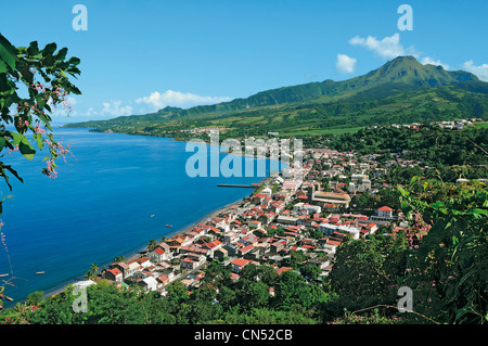 France, Martinique (French West Indies), St Pierre and the mount Pelee - Stock Photo