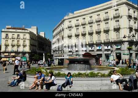 Spain, Madrid, Puerta del Sol - Stock Photo