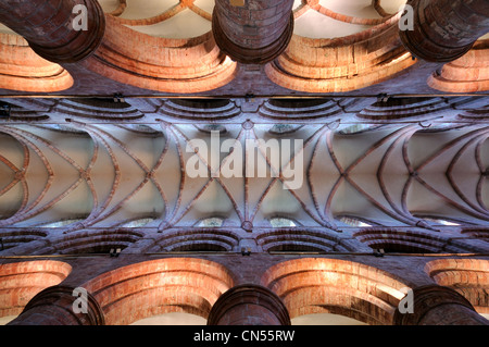The ceiling of St Magnus Cathedral, Kirkwall, Orkney - Stock Photo