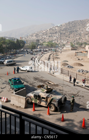Afghanistan, Kabul, Chahari Sadarat, view from a room of the Mustapha Hotel, meeting point of journalists with little - Stock Photo