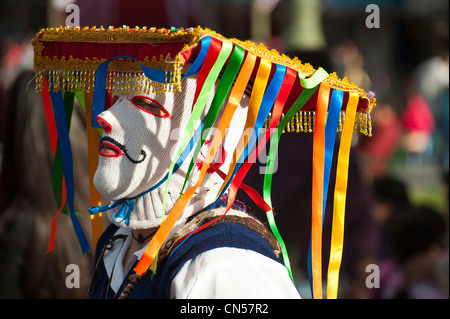 Peru, Cuzco province, Cuzco, listed as World Heritage by UNESCO, dancer interpreting QhapacQola, satire dance - Stock Photo