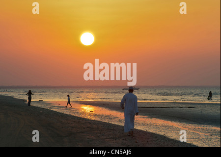 Sultanate of Oman, Al Batinah Region, Al Sawadi, the beach - Stock Photo