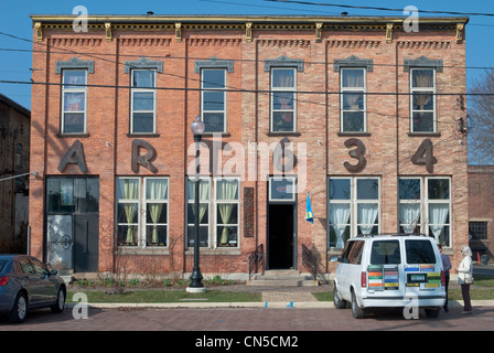 Art 634 is an artist-in-residence program located in the old prison in Jackson, Michigan. - Stock Photo