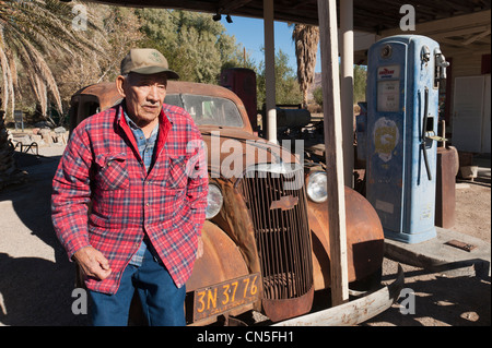 United States, California, Shoshone, old gas station - Stock Photo