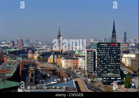 Germany, Hamburg, European Green Capital 2011, overview - Stock Photo