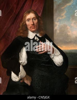Portrait of a  man 1655 Bartholomeus van der HELST  1613 -1670 Dutch - Stock Photo
