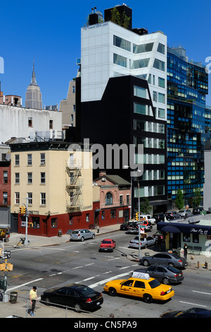 United States, New York City, Manhattan, Meatpacking District (Gansevoort Market), 459 West 18th building in West - Stock Photo