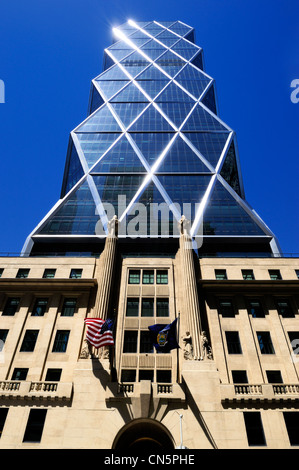 United States, New York City, Manhattan, Midtown, Hearst Magazine building (2006) on 8th Avenue at 300 West 57th - Stock Photo
