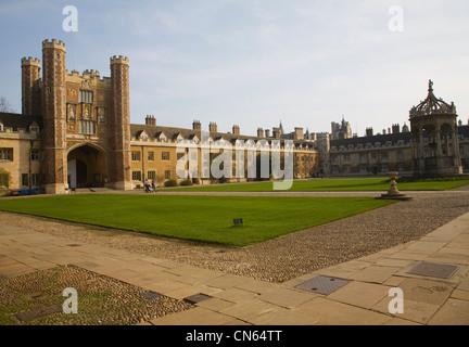 Trinity College Cambridge University England - Stock Photo