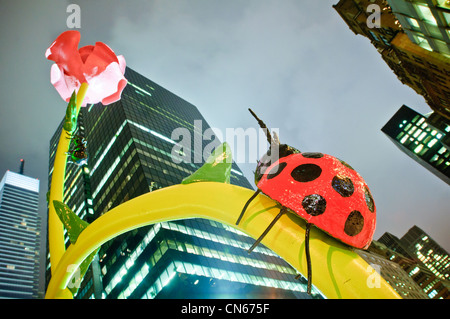 'The Flowers,' an art installation by Will Ryman. New York City, Jan. 28, 2011. - Stock Photo