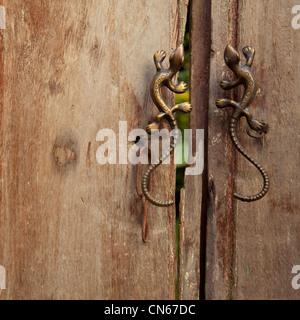 door handle handles lock grain broken fixed fix Stock Photo ...