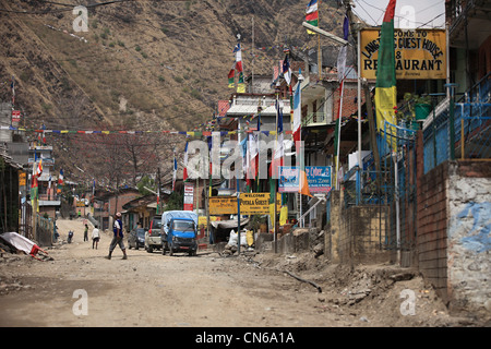 Nepali Himalayan village Shyabrubesi - Stock Photo