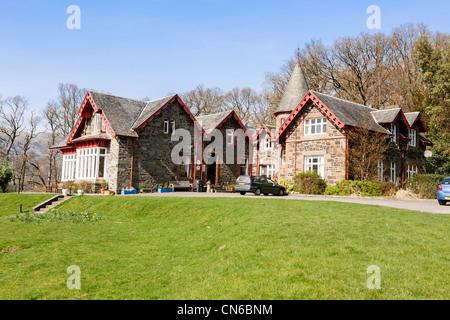 Youth Hostel at Rowardennan, Loch Lomond and Trossachs National Park, Scotland. - Stock Photo