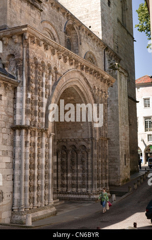 Saint Etienne Cathedral Cahors Lot Occitaine France - Stock Photo